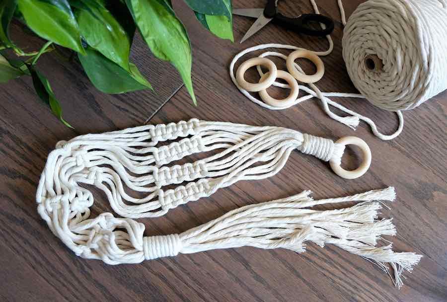 Macrame For Beginners: Hand-Made Macrame Plant Hanger