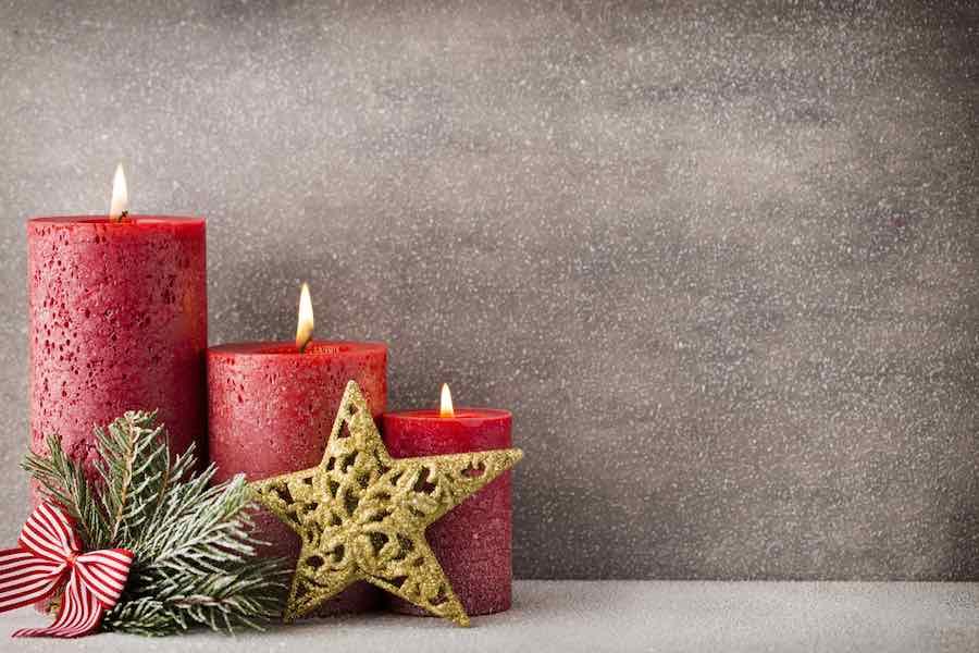 Homemade Christmas Candle Craft