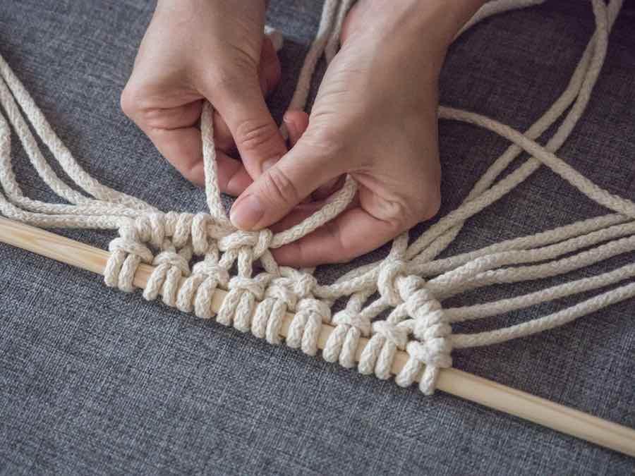 Weaving Macrame
