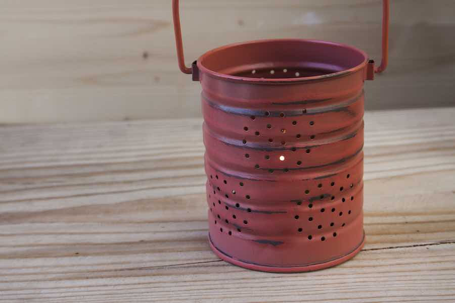 Decorative Tin Can Lantern