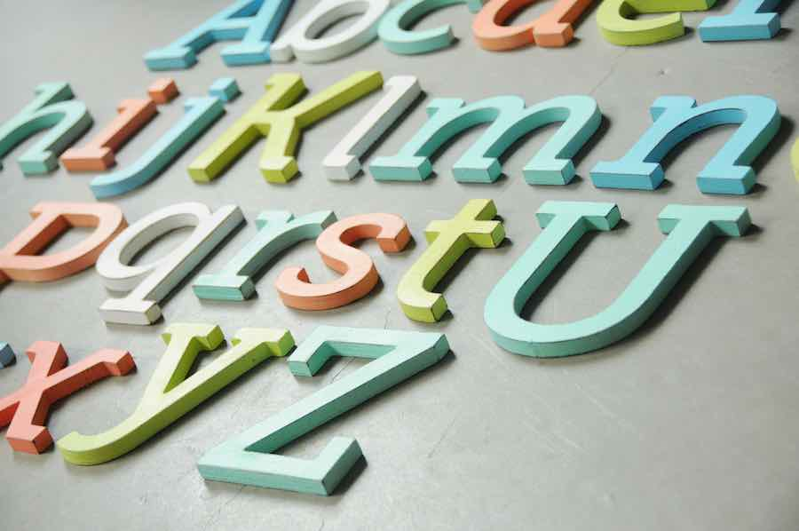 Wooden Wall Art: Wood Letters