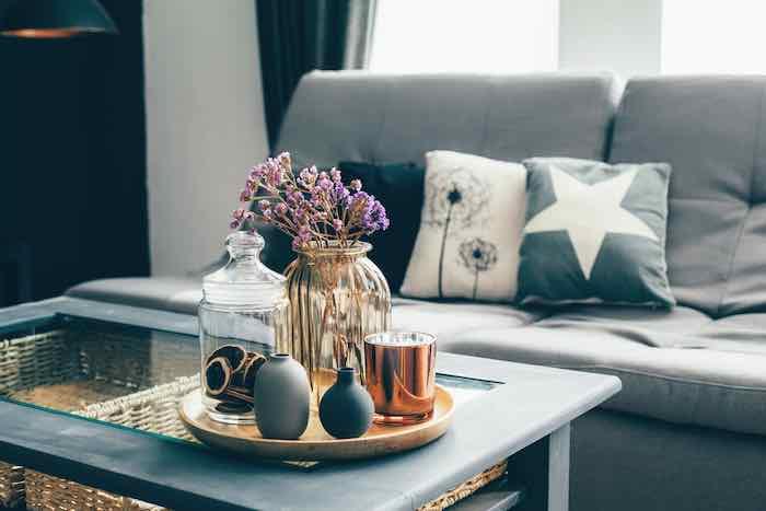Aqua Painted Coffee Table