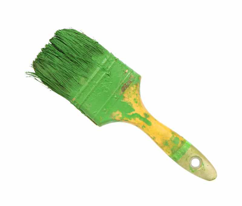 How to Clean Dried Paint Brushes