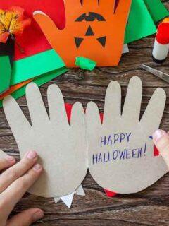 Halloween Handprint Crafts For Kids