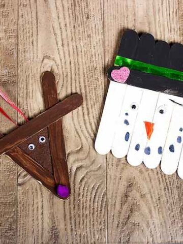 16 Popsicle Stick Ornaments You Can Make with Your Kids for the Christmas Tree