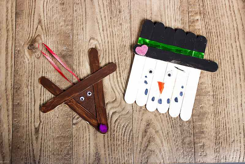 Popsicle stick ornaments