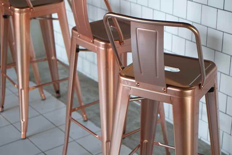 stainless bronze chair
