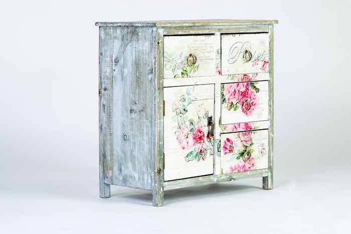 Vintage bedside dresser style of Provence