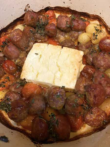 Roasted feta cheese and other ingredients!