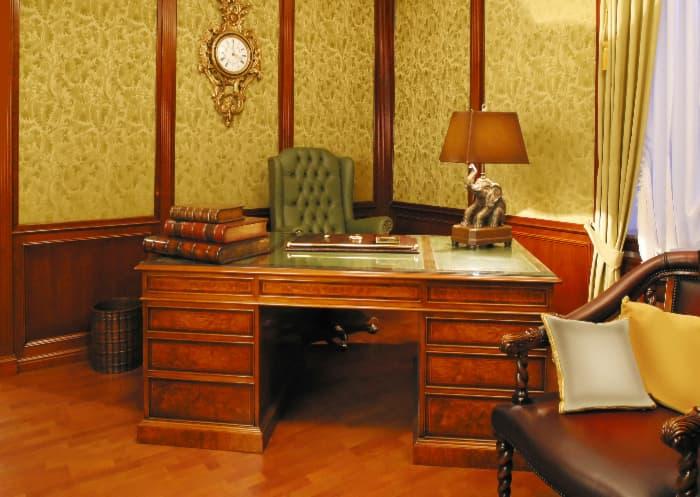 Farmhouse desk in modern simple lines style.
