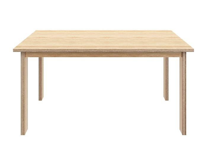Simple Lines modern plywood desk.