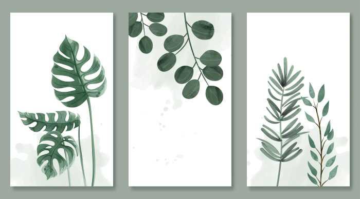 Green botanical wall art