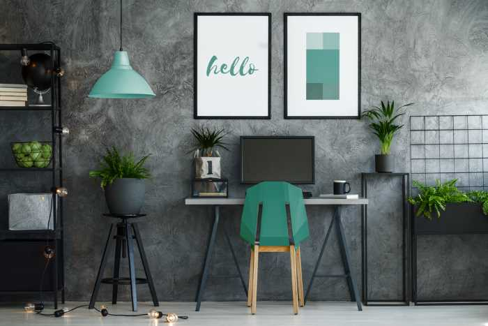 phthalo green office accents