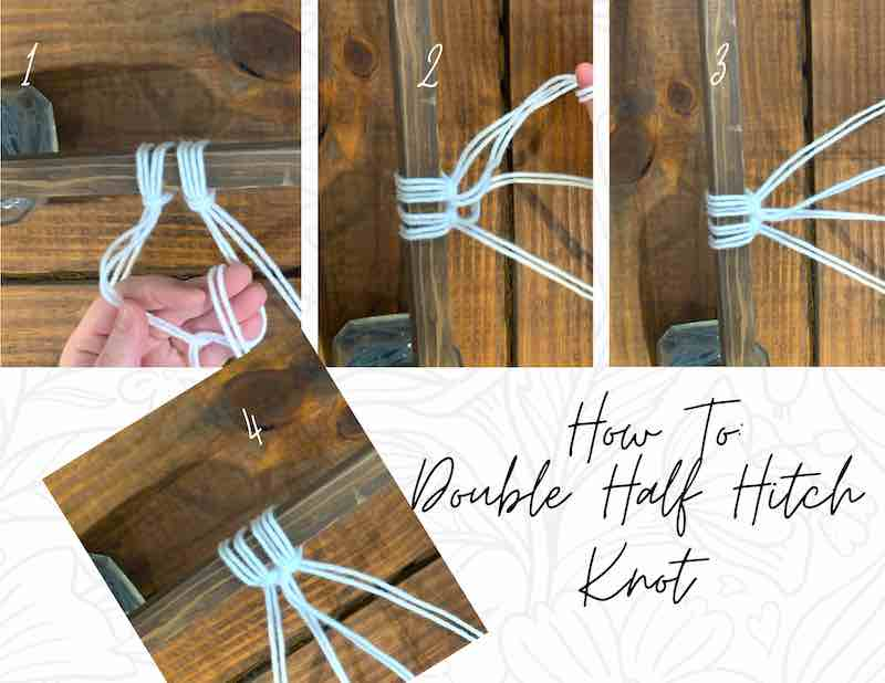 Hot to tie a double half hitch knot.