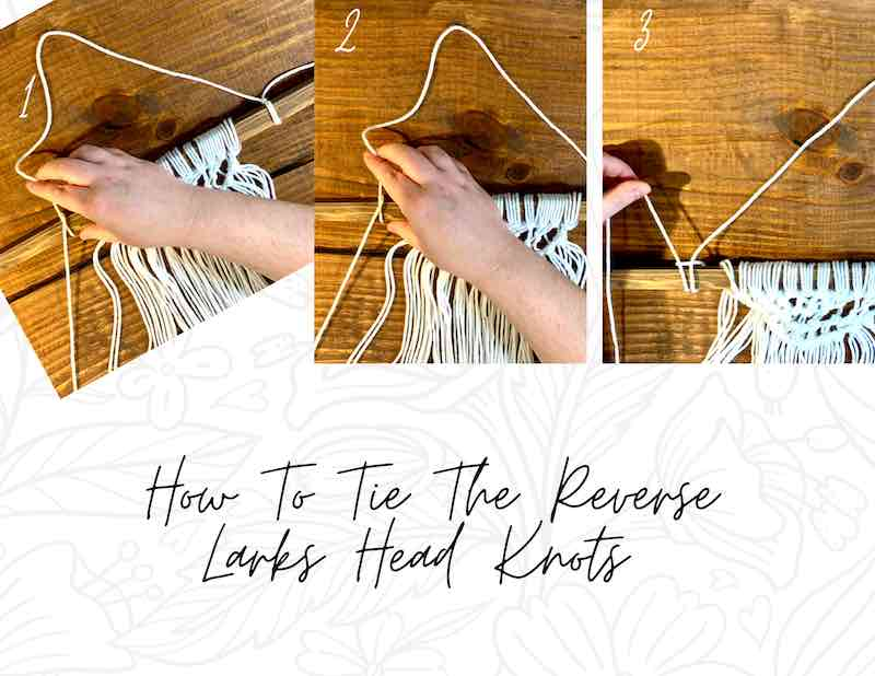 How to tie a reverse larks head knot.