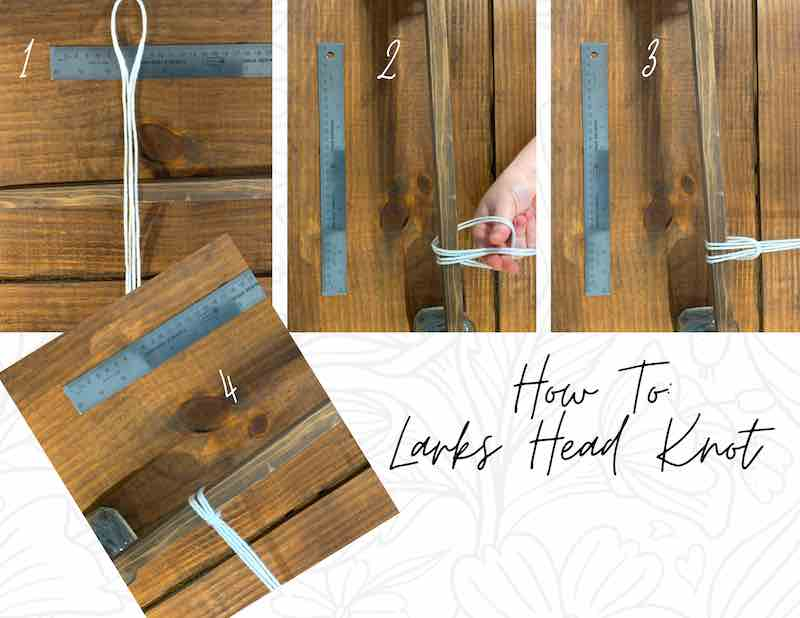 How to tie a larks head knot.