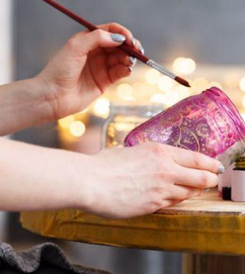 mason jars diy painting crafts ideas